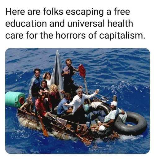 boat people immigrants folks escaping free education health care for capitalism