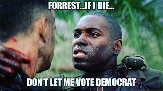 bubba forrest if i die dont let me vote democrat