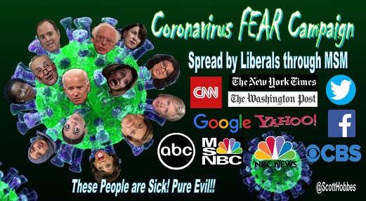 coronavirus fear campaign democrats and media
