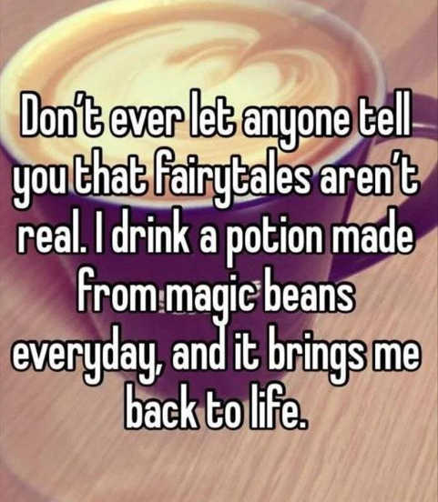 fairytales are real potion magin beans brings me back to life