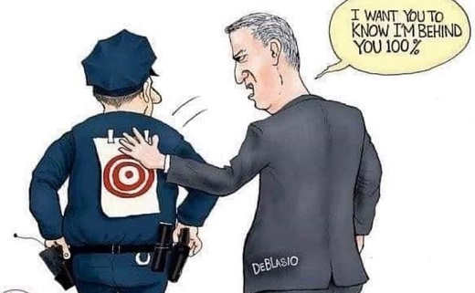 governor deblasio target cops back behind you all the way