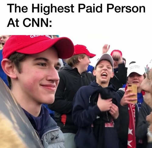 highest paid person at cnn nick maga hat boy lawsuit settlement