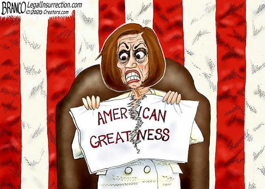 nancy pelosi sotu tearing up american greatness