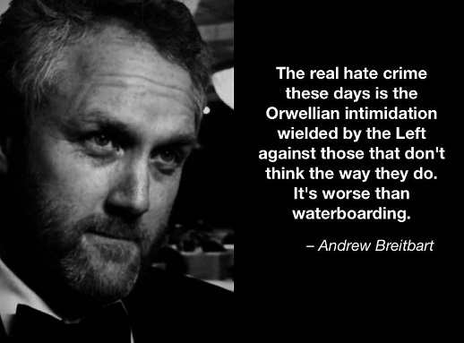 quote andrew breitbart realy waterboarding is leftist orwellian intimidation against those who dont think they way they do
