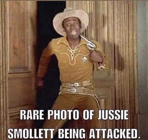 rare photo of jussie smollett being attacked blazing saddles