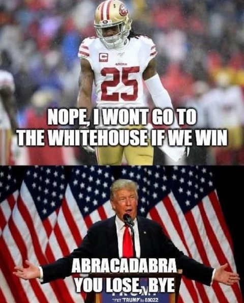 richard sherman wont go to white house trump abracadabra you lose