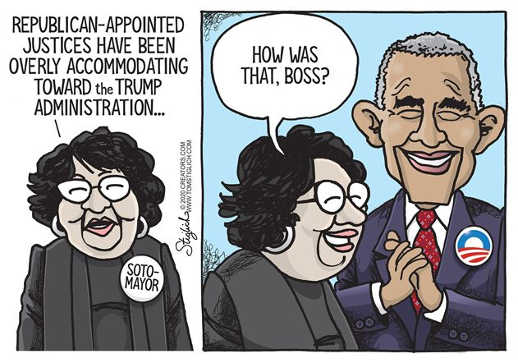 sotomoyor republican appointed judges biased obama boss was that good