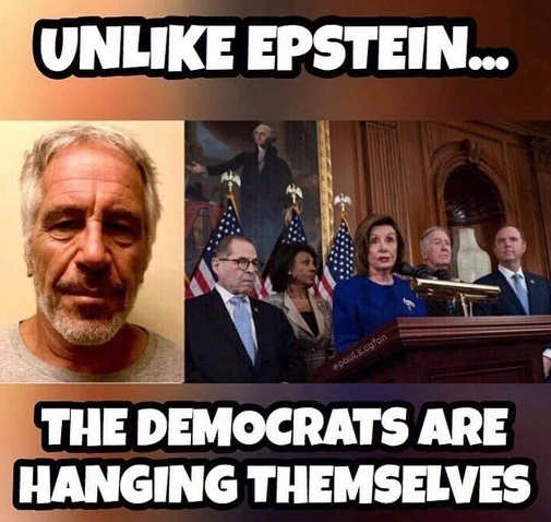 unlike epstein democrats are hanging themselves