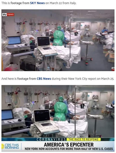 cbs fake news italy hospital new york corona story