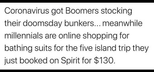 coronavirus got boomers building doomsday bunkers millenials looking for island deals
