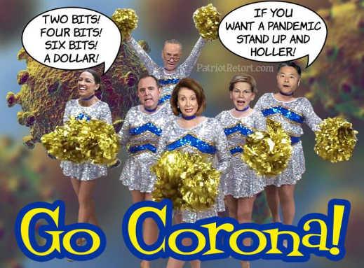 democrat cheerleaders for corona aoc pelosi schumer schiff warren
