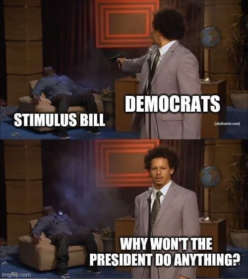 democrats shooting stimulus bill why wont the president do anything