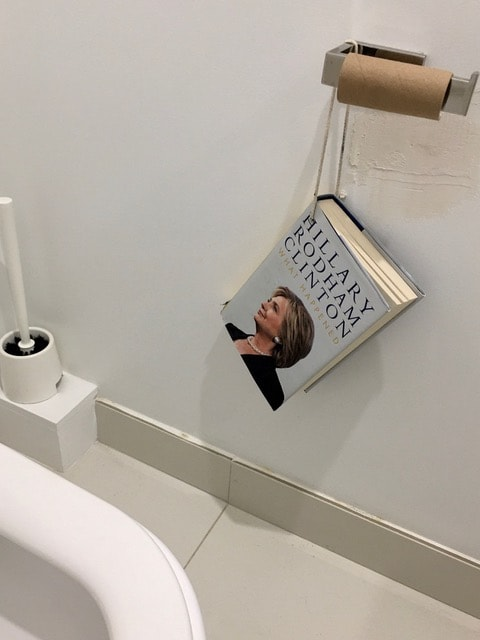 hillary clinton book hanging toilet paper