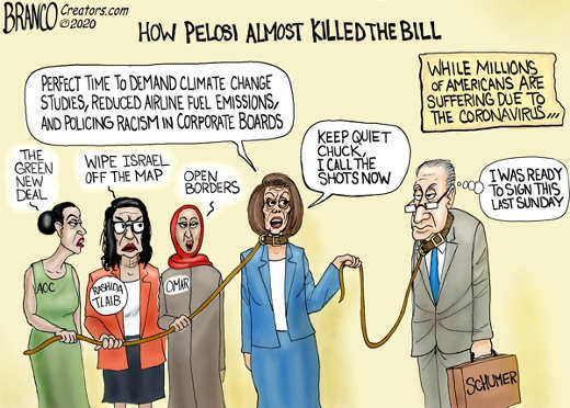 how pelosi almost killed bill coronavirus climate change squad open borders schumer by collar