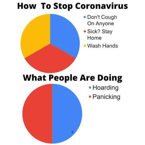 how to stop corona virus dont cough on anyone wash hands stay home if sick instead hoarding panicking