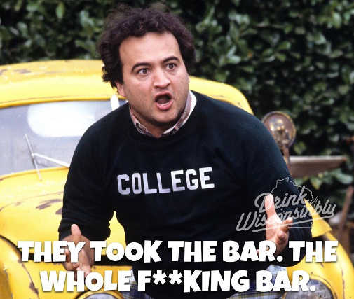 james belushi they took the bar animal house