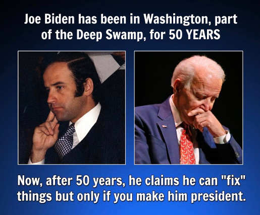 joe biden 50 years in washington part of deep swamp