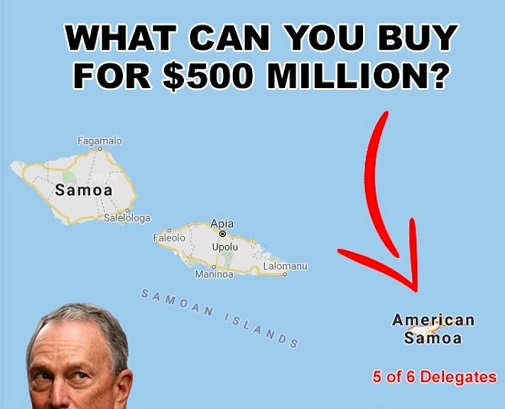 mike bloomberg what you can buy with 500 million american samoa