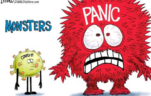 monsters little coronavirus big panic
