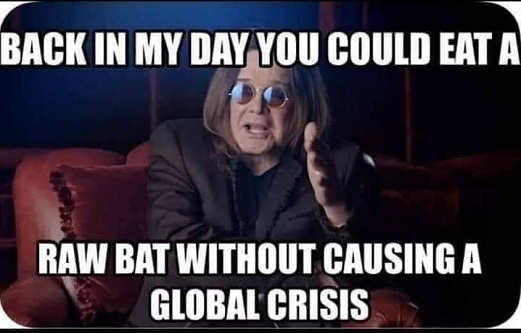 ozzie osbourne back in my day could eat raw bat without causing global crisis