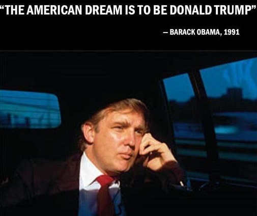 quote barack obama american dream is to be donald trump