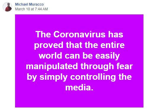 quote michael muracco coronavirus proved world can easily be manipulated by controlling media