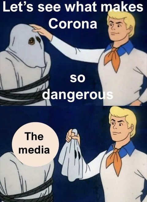 scooby doo lets see what makes corona so dangerous ghost the media
