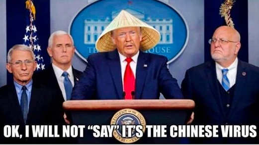 trump ok i will not say its the chinese virus