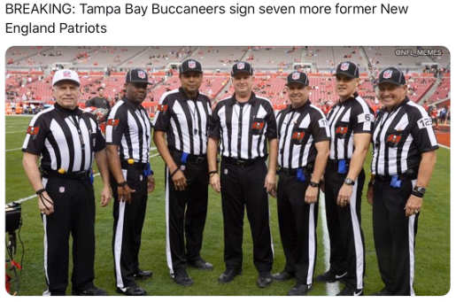breaking tampa bay signed more former patriots referees