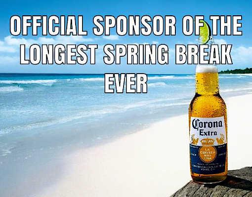 corona extra official sponsor of longest spring break ever