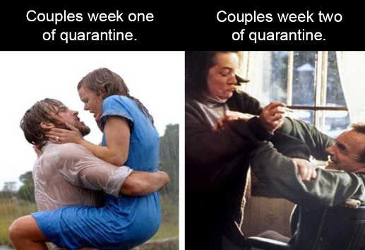 couples week on of quarantine week two