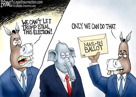 democrats cant let trump steal election only we can do that mail in ballot