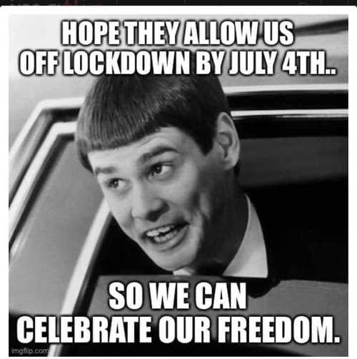 hope they allow us off lockdown by july 4 so we can celebrate our freedom