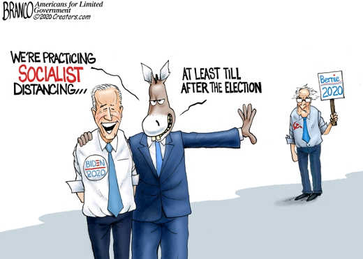 joe biden dnc were practicing socialist distancing bernie at least until after election