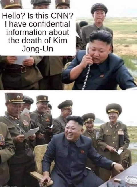 joke hello is this cnn i have confidential information about death of kim jung un