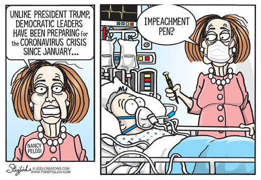 nancy pelosi unlike trump democrats preparing for coronavirus since january impeachment pen