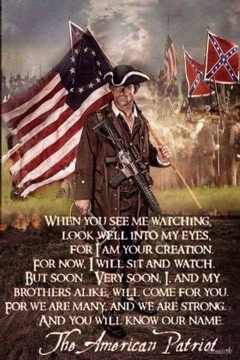 quote american patriot see me watching you will know my name