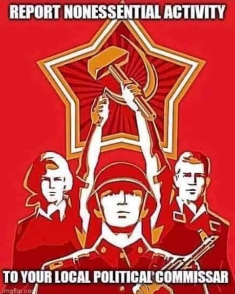 soviet union report nonessential activity to your local political commissar