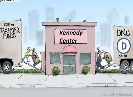 taxpayer funds into kennedy center transferred to dnc