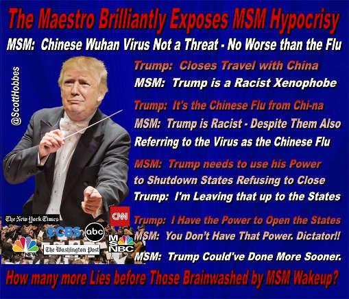 trump maestro exposes mainstream media hypocrisy racist xenophobe chinese flu