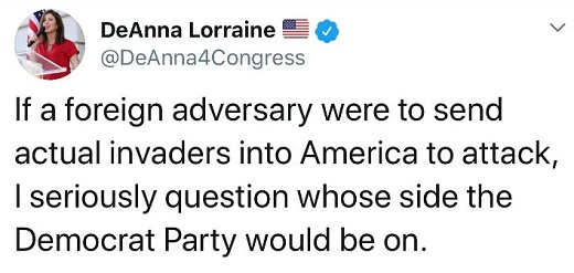 tweet if foreign adversary send invaders into america whose side would democrat party be on