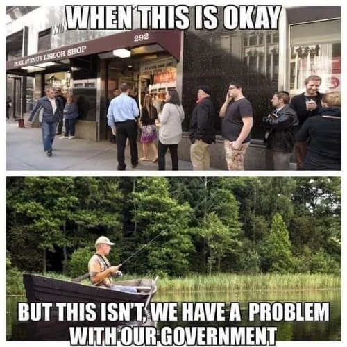 when store lines ok but fishing alone not we have problem with our government