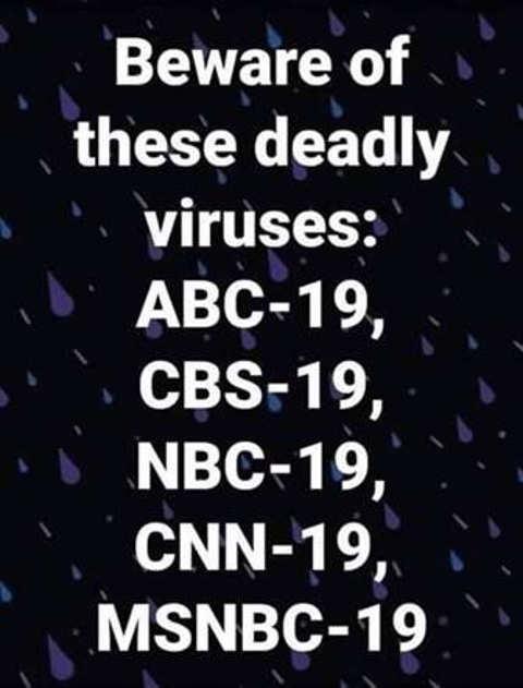 beware of deadly viruses abc cbs nbc cnn msnbc