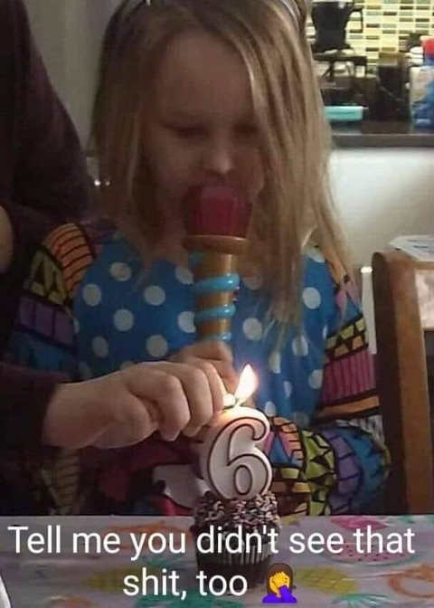 birthday candle 6 you didnt see that pot pipe