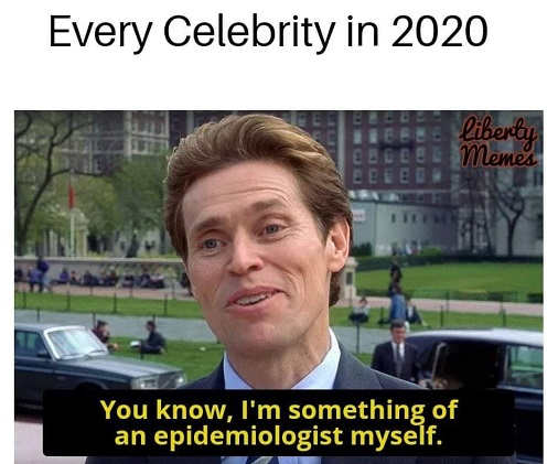 every celebrity in 2020 you know im something of an epidemiologist myself