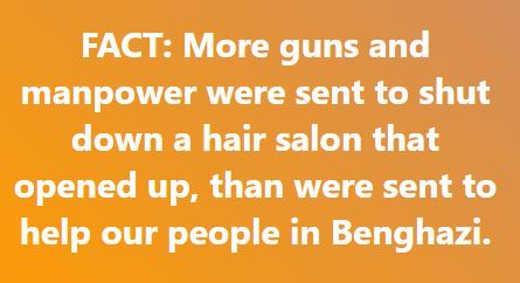 fact more manpower to shut down salon than benghazi