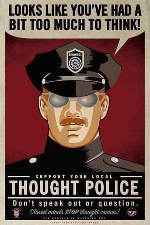 looks like youve had bit too much to think thought police