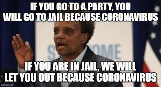 lori lightfoot if go to party jail if in jail release you coronavirus