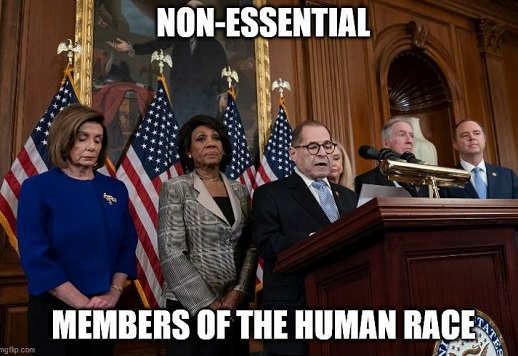 non essential members of human race pelosi schiff watters nadler