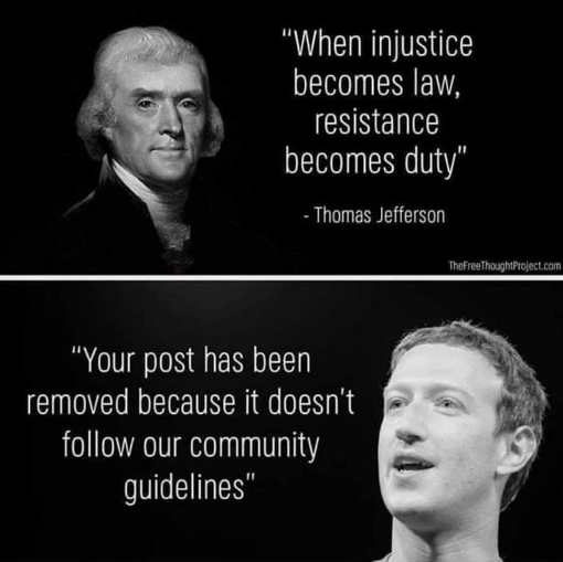 quote jefferson when injustice becomes law resistance becomes duy zuckerberg post removed
